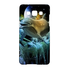 Funny Dolphin In The Universe Samsung Galaxy A5 Hardshell Case