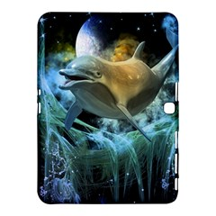 Funny Dolphin In The Universe Samsung Galaxy Tab 4 (10 1 ) Hardshell Case