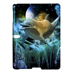 Funny Dolphin In The Universe Samsung Galaxy Tab S (10.5 ) Hardshell Case