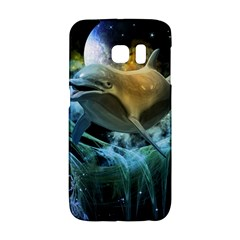 Funny Dolphin In The Universe Galaxy S6 Edge