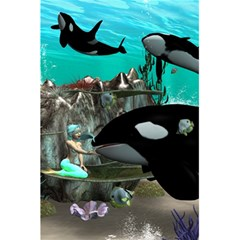 Cute Mermaid Playing With Orca 5 5  X 8 5  Notebooks