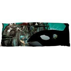 Cute Mermaid Playing With Orca Body Pillow Cases Dakimakura (two Sides)
