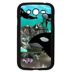 Cute Mermaid Playing With Orca Samsung Galaxy Grand DUOS I9082 Case (Black)