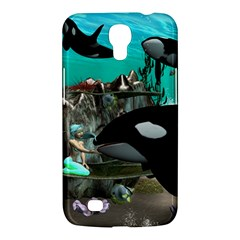 Cute Mermaid Playing With Orca Samsung Galaxy Mega 6.3  I9200 Hardshell Case