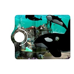 Cute Mermaid Playing With Orca Kindle Fire HD (2013) Flip 360 Case