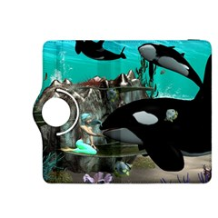 Cute Mermaid Playing With Orca Kindle Fire Hdx 8 9  Flip 360 Case
