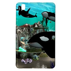 Cute Mermaid Playing With Orca Samsung Galaxy Tab Pro 8 4 Hardshell Case