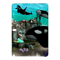 Cute Mermaid Playing With Orca Samsung Galaxy Tab Pro 12.2 Hardshell Case