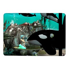 Cute Mermaid Playing With Orca Samsung Galaxy Tab Pro 10.1  Flip Case