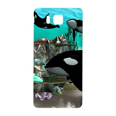 Cute Mermaid Playing With Orca Samsung Galaxy Alpha Hardshell Back Case