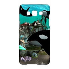 Cute Mermaid Playing With Orca Samsung Galaxy A5 Hardshell Case