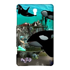 Cute Mermaid Playing With Orca Samsung Galaxy Tab S (8.4 ) Hardshell Case