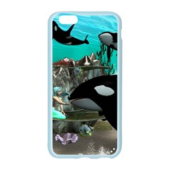 Cute Mermaid Playing With Orca Apple Seamless iPhone 6/6S Case (Color)