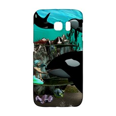 Cute Mermaid Playing With Orca Galaxy S6 Edge