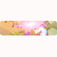 Wonderful Colorful Flowers With Dragonflies Large Bar Mats