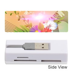 Wonderful Colorful Flowers With Dragonflies Memory Card Reader (Stick)