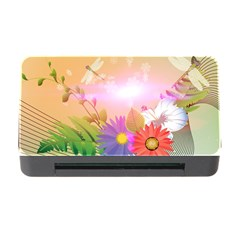 Wonderful Colorful Flowers With Dragonflies Memory Card Reader with CF