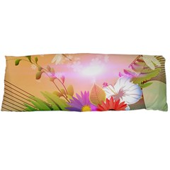 Wonderful Colorful Flowers With Dragonflies Body Pillow Cases (Dakimakura)