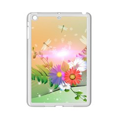 Wonderful Colorful Flowers With Dragonflies iPad Mini 2 Enamel Coated Cases