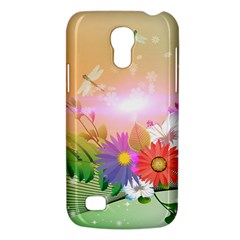 Wonderful Colorful Flowers With Dragonflies Galaxy S4 Mini