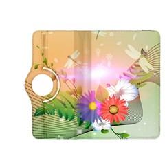 Wonderful Colorful Flowers With Dragonflies Kindle Fire Hdx 8 9  Flip 360 Case