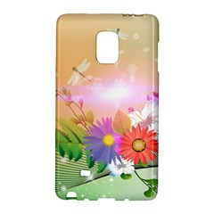 Wonderful Colorful Flowers With Dragonflies Galaxy Note Edge