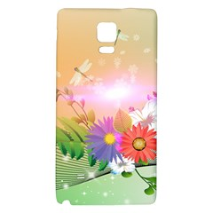 Wonderful Colorful Flowers With Dragonflies Galaxy Note 4 Back Case
