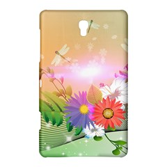 Wonderful Colorful Flowers With Dragonflies Samsung Galaxy Tab S (8.4 ) Hardshell Case