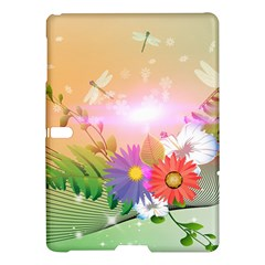 Wonderful Colorful Flowers With Dragonflies Samsung Galaxy Tab S (10 5 ) Hardshell Case
