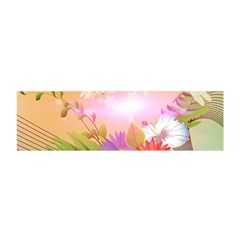 Wonderful Colorful Flowers With Dragonflies Satin Scarf (oblong)