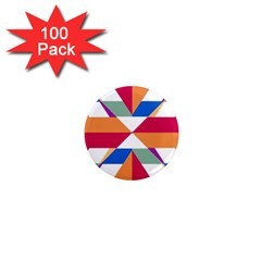 Shapes In Triangles 1  Mini Magnet (100 Pack)