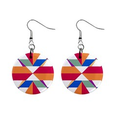 Shapes in triangles 1  Button Earrings