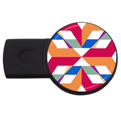 Shapes in triangles USB Flash Drive Round (4 GB)