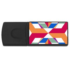 Shapes In Triangles Usb Flash Drive Rectangular (4 Gb)