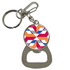 Shapes in triangles Bottle Opener Key Chain