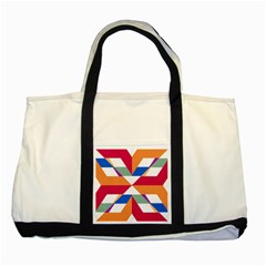 Shapes In Triangles Two Tone Tote Bag