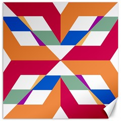 Shapes In Triangles Canvas 20  X 20