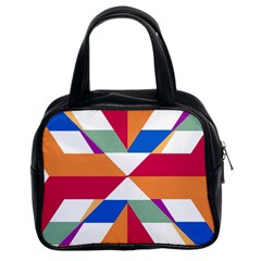Shapes In Triangles Classic Handbag (two Sides)