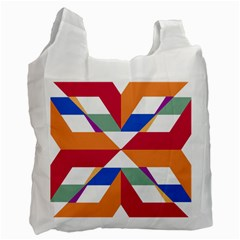 Shapes in triangles Recycle Bag (Two Side)