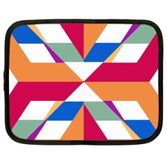 Shapes in triangles Netbook Case (XL)
