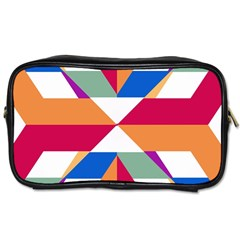 Shapes In Triangles Toiletries Bag (one Side)