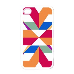 Shapes in triangles Apple iPhone 4 Case (White)