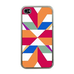 Shapes in triangles Apple iPhone 4 Case (Clear)