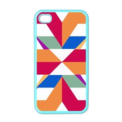 Shapes in triangles Apple iPhone 4 Case (Color)