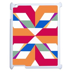 Shapes in triangles Apple iPad 2 Case (White)