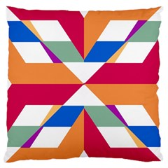 Shapes in triangles Large Cushion Case (Two Sides)