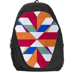 Shapes in triangles Backpack Bag