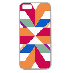 Shapes in triangles Apple Seamless iPhone 5 Case (Clear)