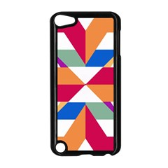 Shapes in triangles Apple iPod Touch 5 Case (Black)