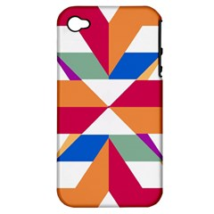 Shapes in triangles Apple iPhone 4/4S Hardshell Case (PC+Silicone)